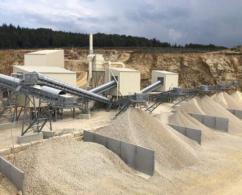 Industriebau Schotterwerk Bartholomä